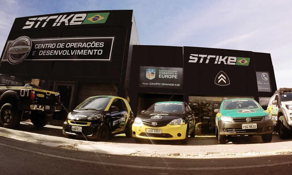 Fachada Centro de Operações e Desenvolvimento Strike Brasil - Campo Grande MS