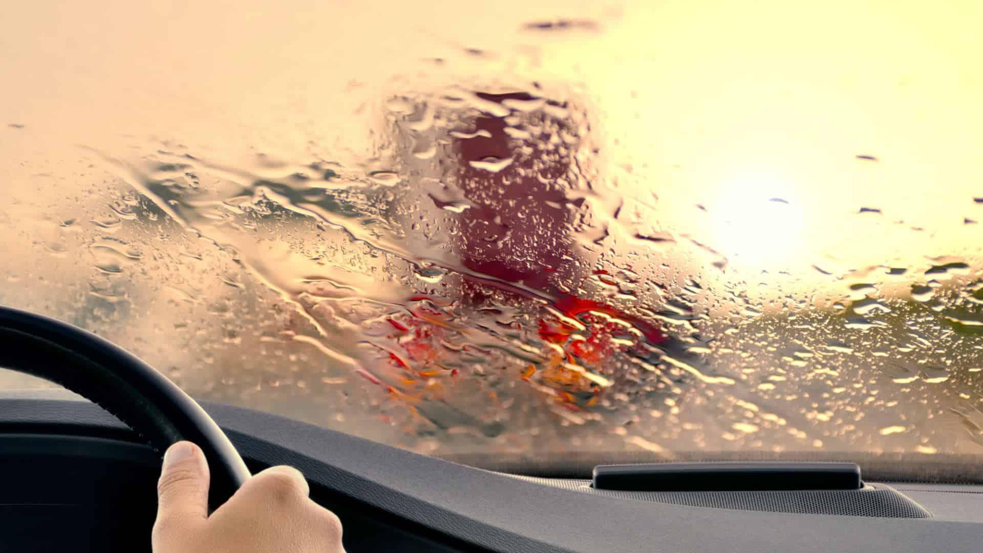 Chuva e baixa visibilidade impermeabilizador de água